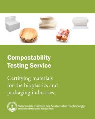 View a brochure on WIST compostability testing. - University of ...