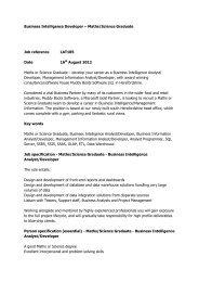 Business Intelligence Developer - Muddy Boots Software