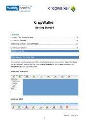 CropWalker Getting Started - Muddy Boots Software