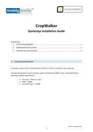 CropWalker Installation Guide (PDF -783KB) - Muddy Boots Software