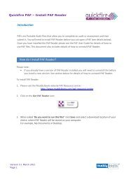 Introduction How do I install PAF Reader? - Muddy Boots Software