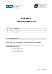 PROCHECK Installation Guide (PDF -767KB) - Muddy Boots Software