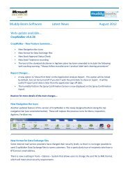 Muddy Boots Software Latest News August 2012