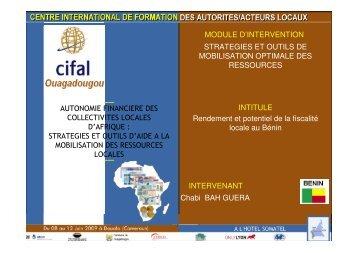 strategies et outils d'aide a la mobilisation des ressources loca
