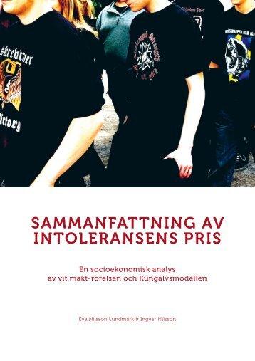 Läs rapporten Sammanställning av Intoleransens pris - Kungälv