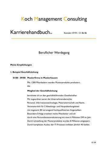 dm bewerbung druckversion als pdf dokument koch management consulting - Dm Bewerbung