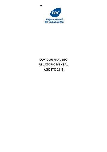 Agosto/2011 - EBC - Empresa Brasil de Comunicação