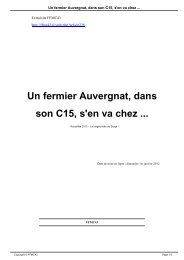 Un fermier Auvergnat, dans son C15, s'en va chez ... - FFMC 43