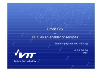 Smart City – NFC as an enabler of services - NFC Research Lab