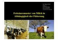 Chiemgauer Weidemilch Praesentation Fett ... - Alpwirtschaft.com