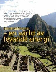 Inkatraditionen – en värld av levande energi - Free