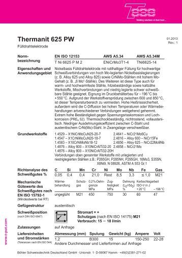 Thermanit 625 PW