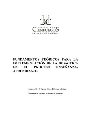 fundamentos teóricos para la implementación de la didáctica en el ...