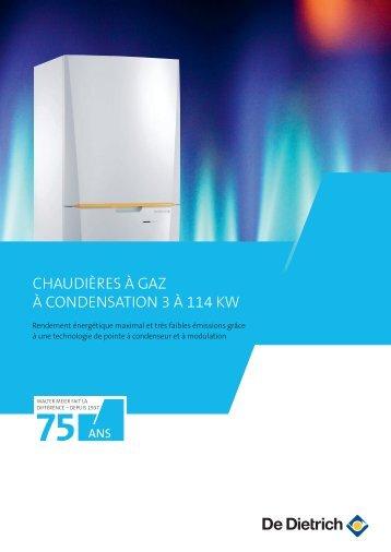Brochure De Dietrich chaudière à gaz à condensation