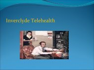 Inverclyde Telehealth - NHS Greater Glasgow and Clyde