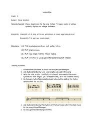 Lesson Plan Grade: 5 Subject: Music Notation Materials Needed ...