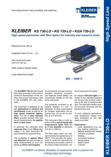 High Speed Line KLEIBER 730-LO - Delta Strumenti S.r.l.