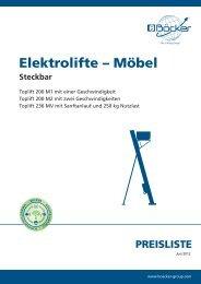 Elektrolifte – Möbel Steckbar - Albert Böcker GmbH & Co. KG
