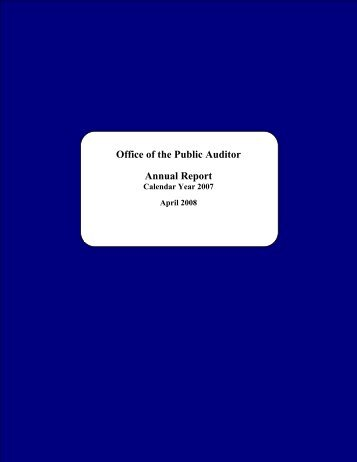 2007 - The Office of Public Accountability