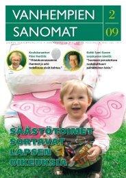 Vanhempien Sanomat 2/2009 - Suomen Vanhempainliitto