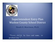 Superintendent Entry Plan Washoe County School District