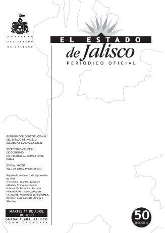 Sección IV - Periódico Oficial El Estado de Jalisco - Gobierno del ...