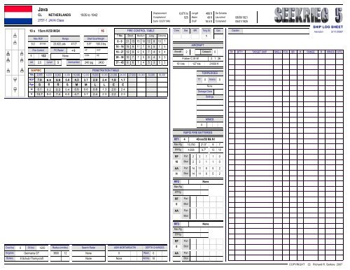 SHIP LOG SHEET JAVA Class 10 x 15cm K/50 M/24 16 CL ...