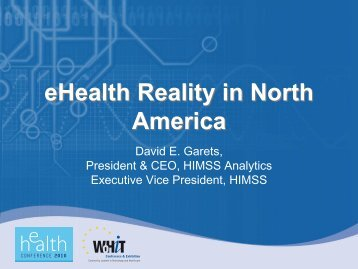 eHealth Reality in North America