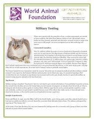 Military Testing - World Animal Foundation