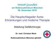 Die Hauptschlagader Aorta - Erkrankungen und moderne Therapie