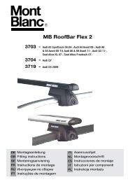 Mont Blanc 748023 RF23 Alu Assembled Roof Bars