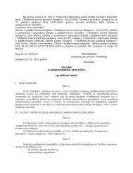 Odluka o Građevinskom zemljištu - Općina Centar