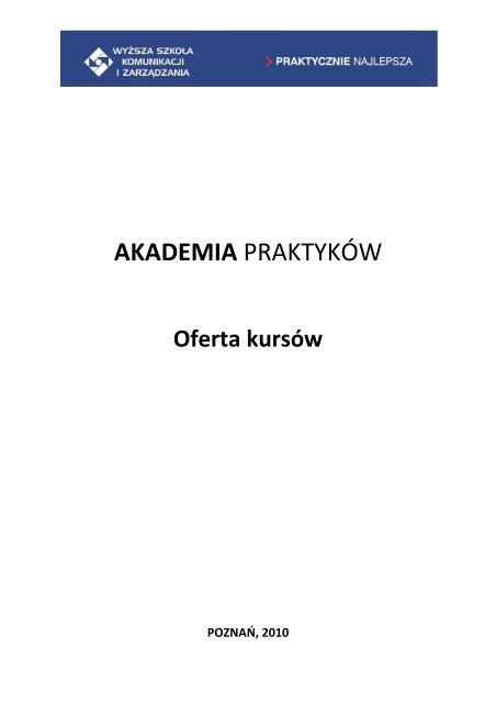 informator592.06 KB - Wyższa Szkoła Komunikacji i Zarządzania