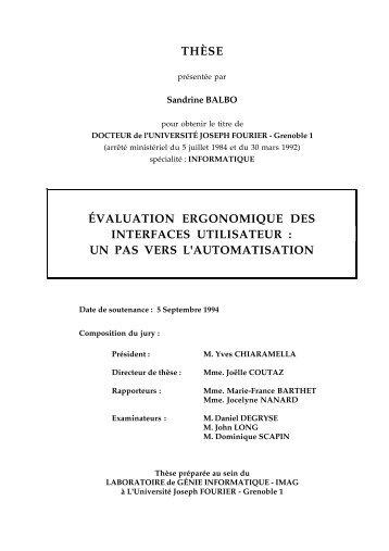 évaluation ergonomique des interfaces utilisateur - IIHM