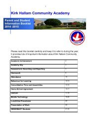 Student and Parent Information Booklet 2014-15