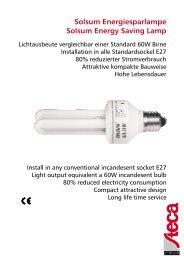 Steca Low voltage DC CFL Lamp - Solar & Wind