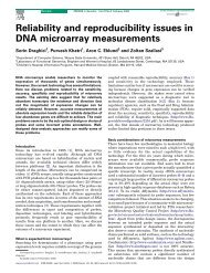 Reliability and reproducibility issues in DNA microarray measurements