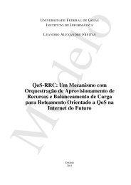 QoS-RRC - Instituto de Informática - UFG