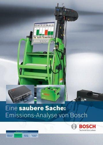 Eine saubere Sache: Emissions-Analyse von Bosch - Autoexcellence
