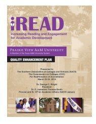 Quality Enhancement Plan (QEP) - SACS Reaffirmation