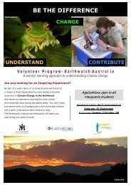 Earthwatch Flyer 08.pub - The Education Abroad Network