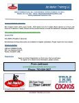 IBM COGNOS 8 BI COURSE - Job Market Training LLC - Page 5