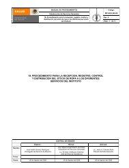 Procedimiento para la recepción, registro, control y distribución del ...