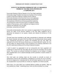 STATE OF THE PROVINCE ADDRESS BY HON ... - Mangaung.co.za