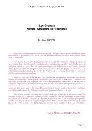Les Grenats proprietes vfx - Page perso minéraux Alain ABREAL ...
