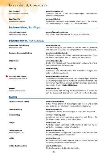 Das Web-Adressbuch fuer Deutschland 2010