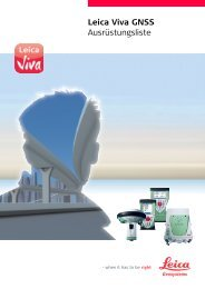 Leica Viva GNSS Ausrüstungsliste