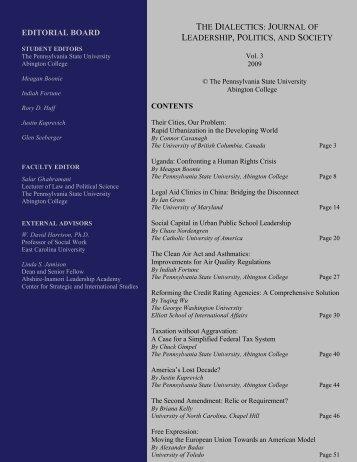 Vol. III - Penn State Abington