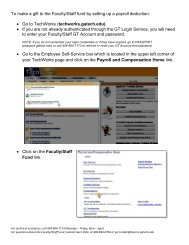 To make a gift to the Faculty/Staff fund by setting up a payroll ...