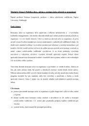 Modul 6 Téma 2 Politika obce, města a regionu jako ... - EUROlocal